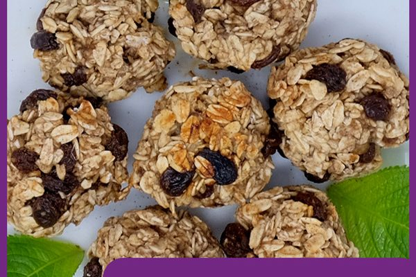 Healthy Cinnamon and Raisin Cookies
