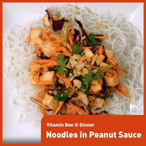 Noodles with Peanut Sauce