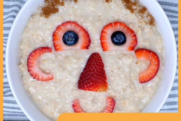 Funny Face Oatmeal with Blueberries