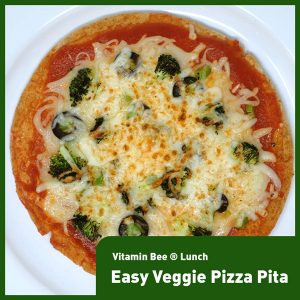 Easy Veggie Pizza Pita