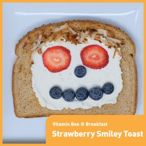 Strawberry Blueberry Smiley Toast